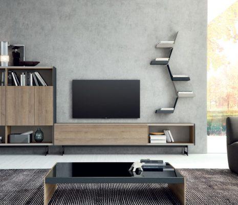 Mueble salón moderno y mesa de centro