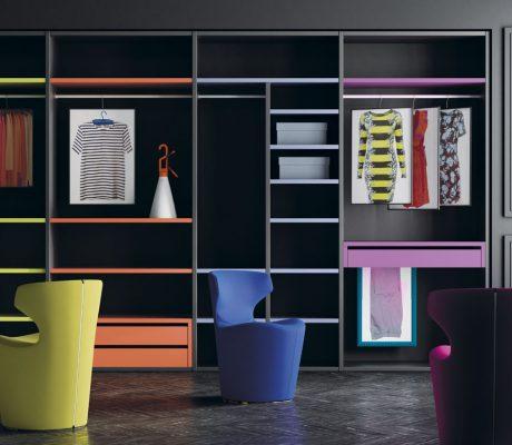 Armari vestidor combinant colors