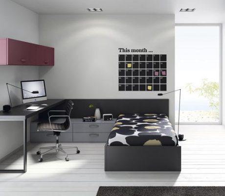 Habitació juvenil llit canapè amb armari japonès