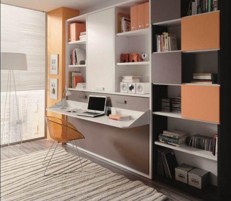 Llit abatible horitzontal amb escriptori