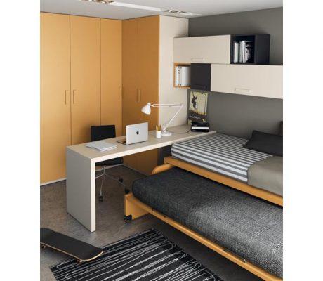 Habitació juvenil amb llit inferior