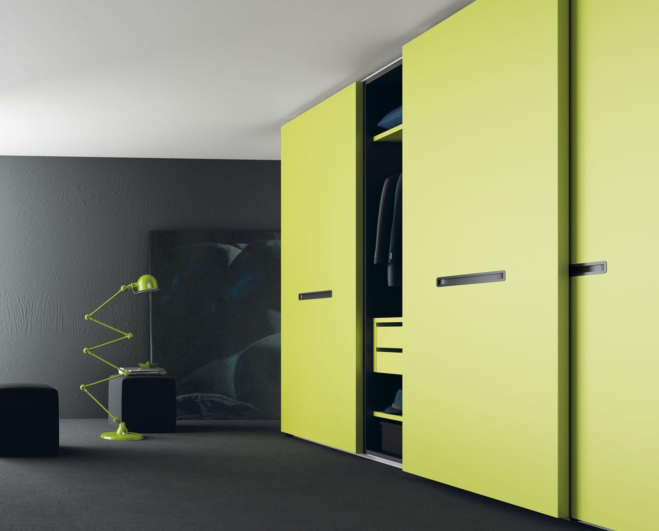 muebles-armarios-puertas-correderas-verde-pistacho